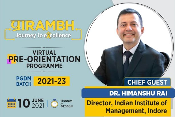 Pre-Orientation Programme Inaugural Session with Dr Himanshu Rai