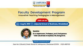 FDP 2021 AN INNOVATIVE PEDAGOGIES FOR TEACHING IN MANAGEMENT