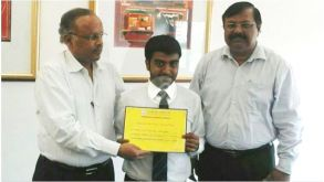 Souvik Banerjee has won the best SIP competition held at Jaipuria School of Business