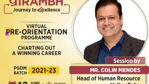 Pre-Orientation Programme – Charting Out A Winning Career, 12th June 2021