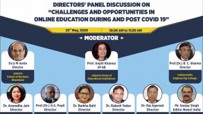 "ONLINE DIRECTOR'S PANEL DISCUSSION ON ""CHALLANGES AND OPPORTUNITIES IN ONLINE EDUCATION DURING AND POST COVID 19″"